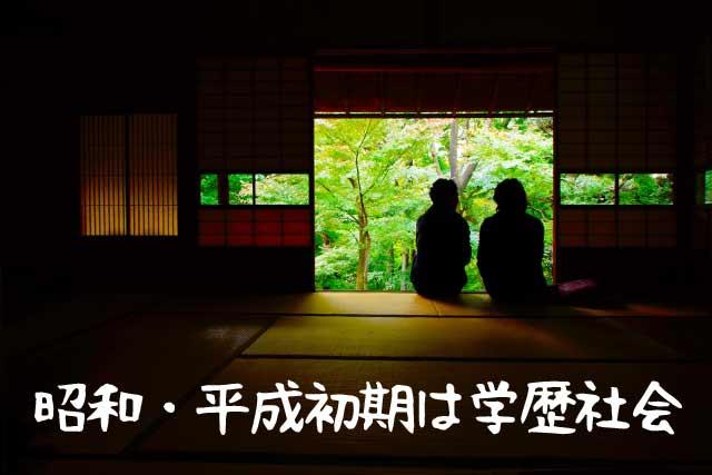 昭和・平成は学歴社会